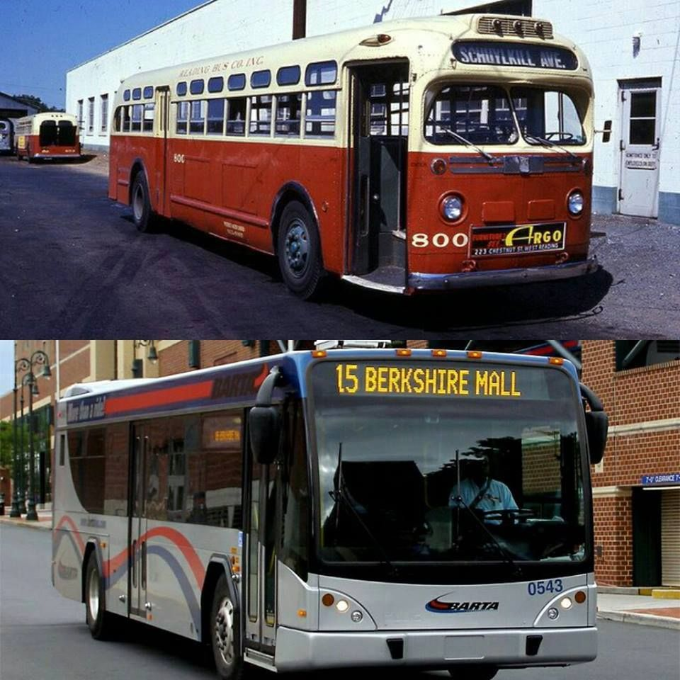 Old And Newer Barta Buses.