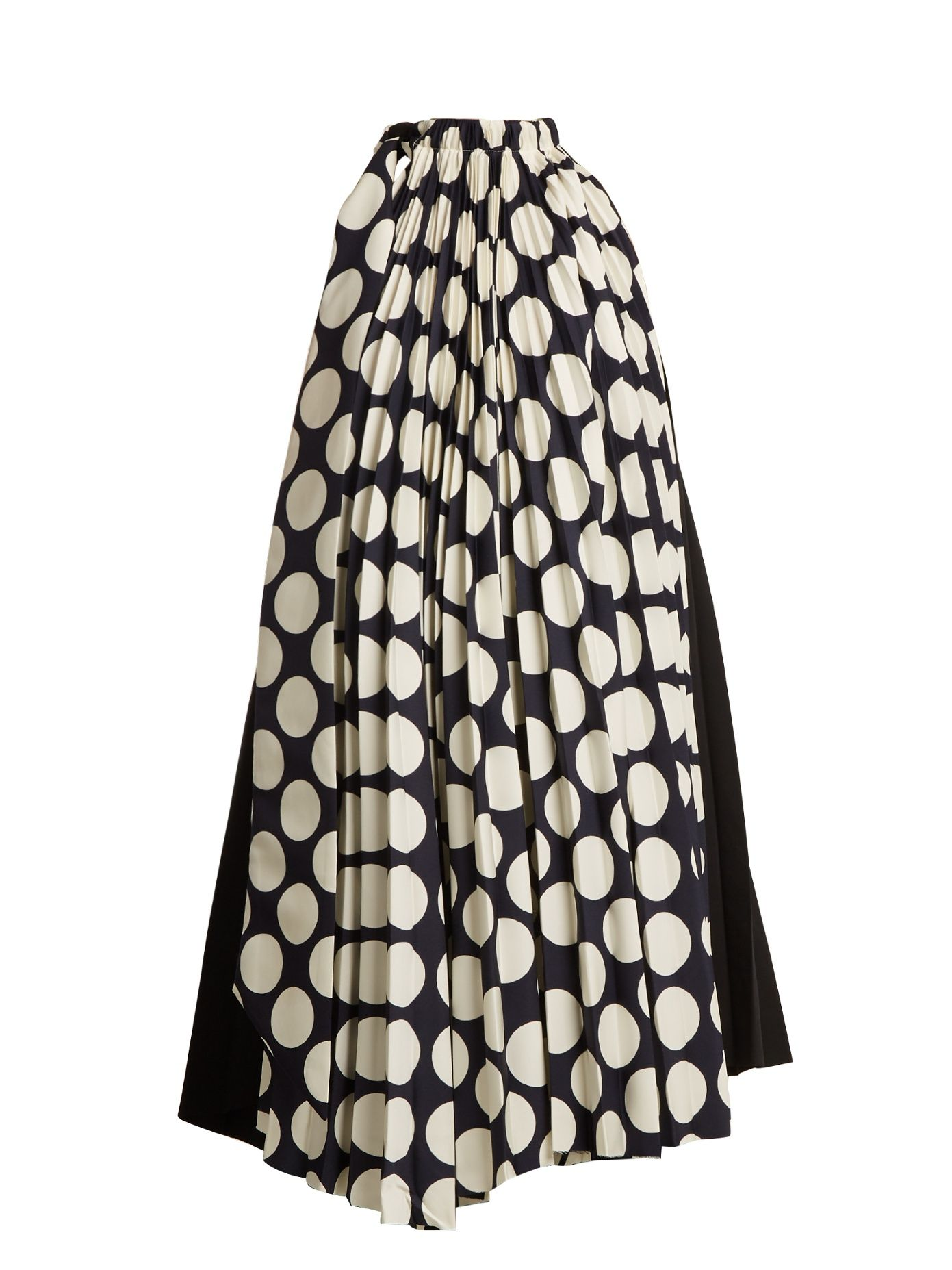 Awake polkadot print pleated dress dresses pinterest