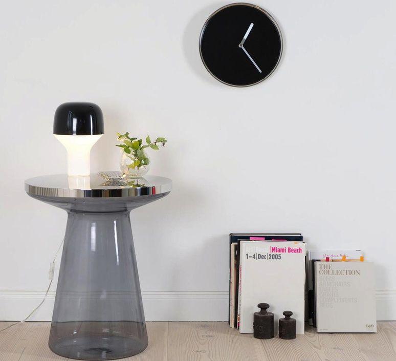 Lampe A Poser Cap Noir H23cm O16cm Teo Contemporary Table Lamps Mid Century Table Lamp Black Lamps