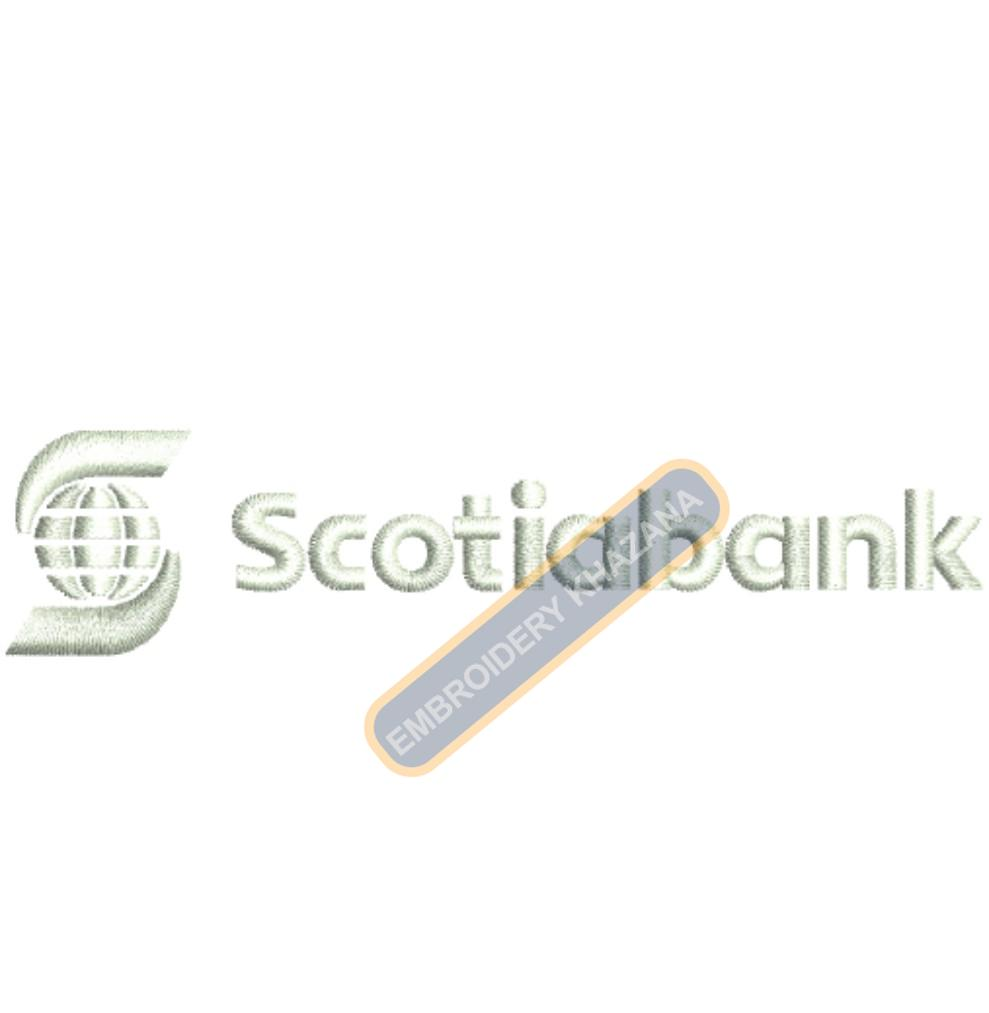 SCOTIA BANK LOGO MACHINE EMBROIDERY DESIGN