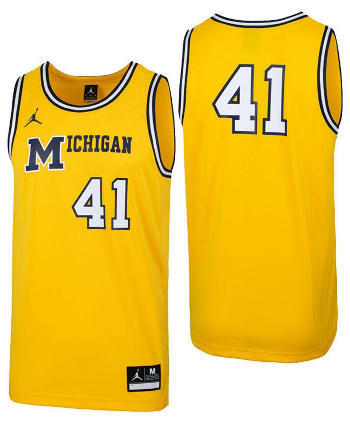 Jordan Men S Michigan Wolverines Replica Basketball Jersey Yellow Basketball Jersey Michigan Wolverines Team Wear