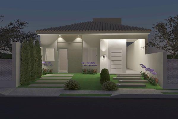 Planta de casa com suite e closet - Projetos de Casas, Modelos de Casas e Fachadas de Casas