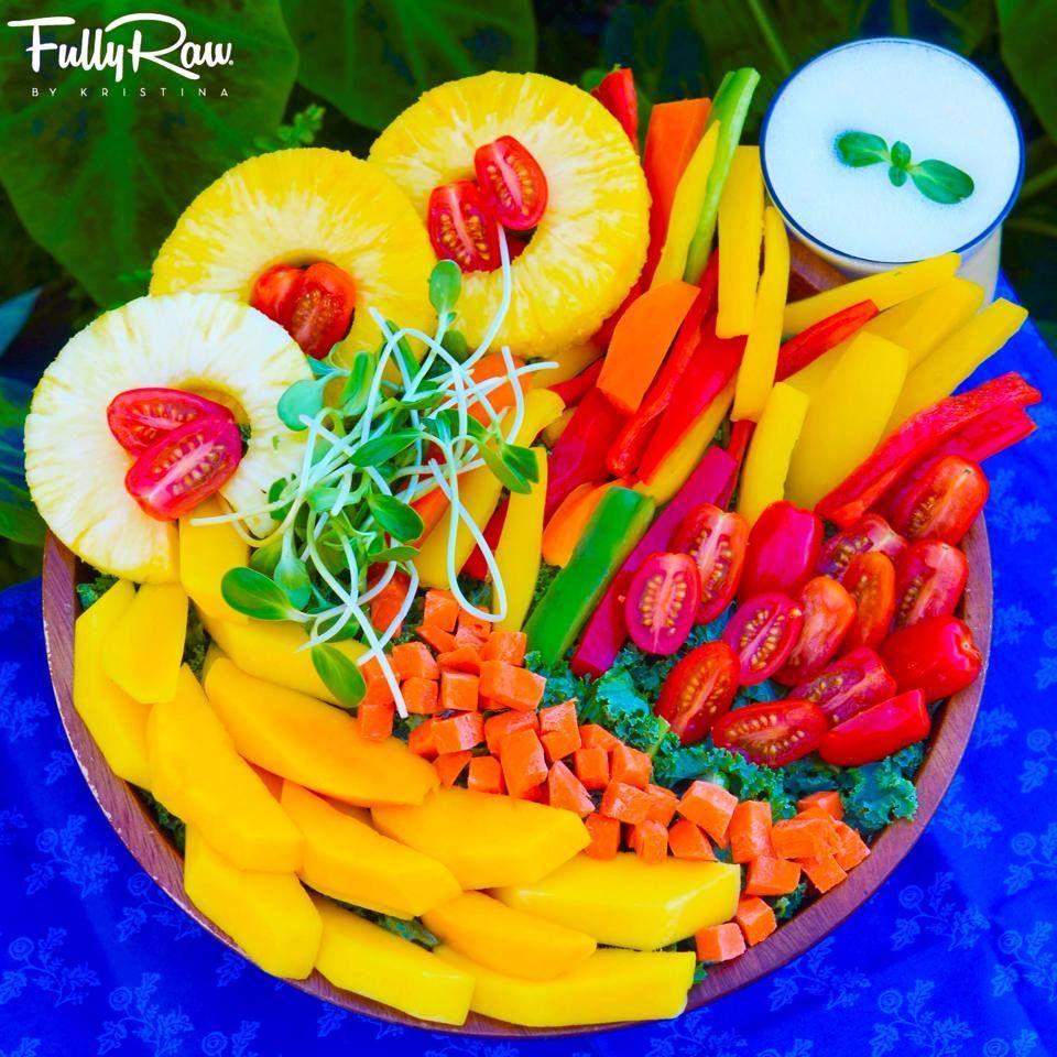 Dynamic Orange Tomato Dressing Video Raw Vegan Recipe: Dinner Tonight: A FullyRaw Rainbow Circus Salad! Pineapple