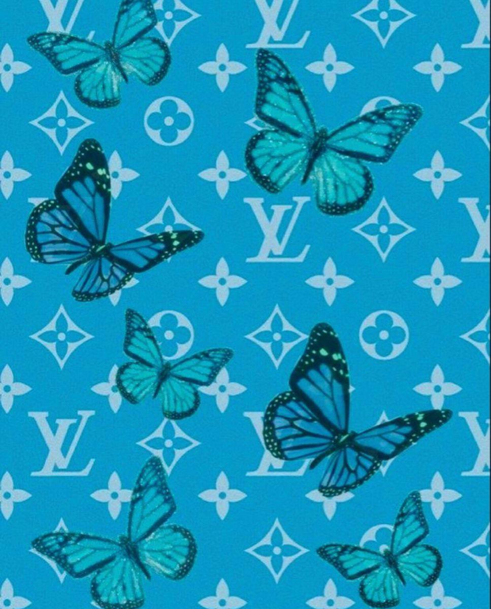 Baddie Wallpaper Wallpapertumblr Wallpaperideas Wallpaperforyourphone Lv Butte Blue Wallpaper Iphone Blue Butterfly Wallpaper Butterfly Wallpaper Iphone