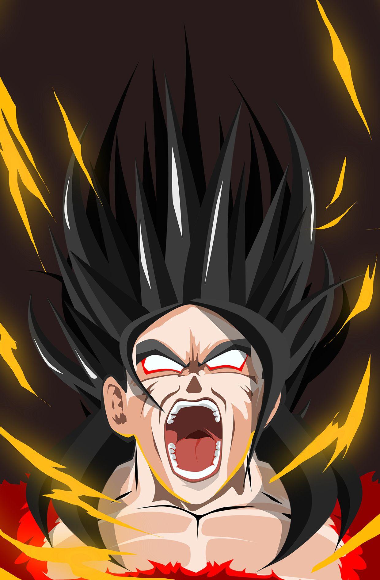 Rage Series By Kode Logic Goku Super Saiya 4 Dragon Ball Z Iphone Wallpaper Anime Dragon Ball Dragon Ball Z