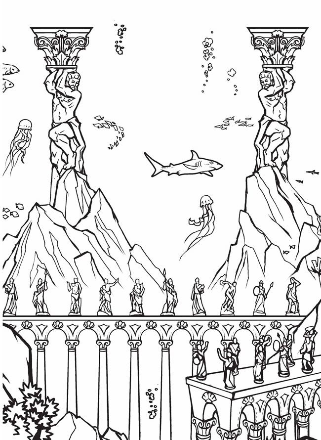 Build A Poster Coloring Book Atlantis Coloring Pages Coloring