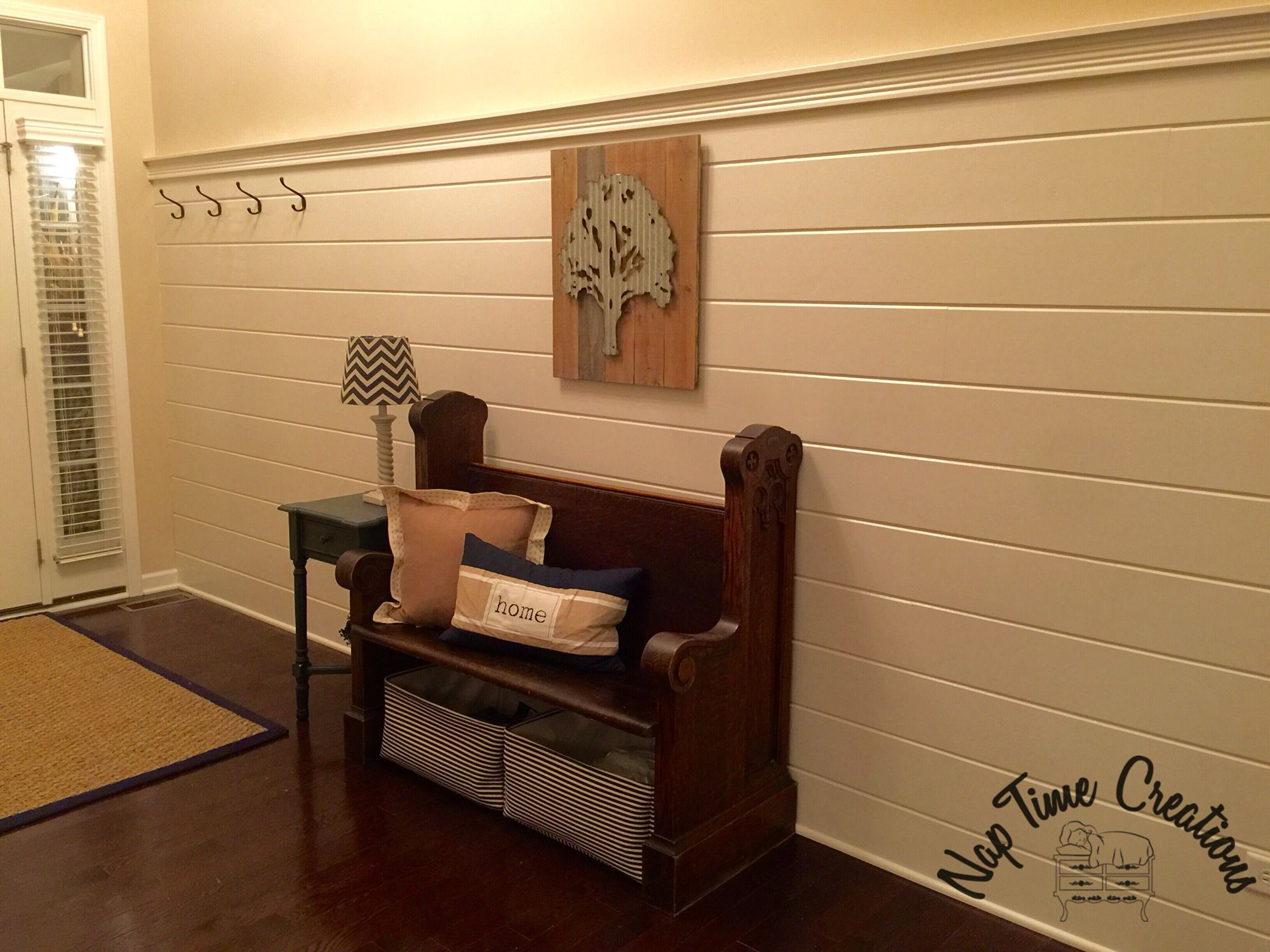 Shiplap Wall Made From Pine Car Siding Nap Time
