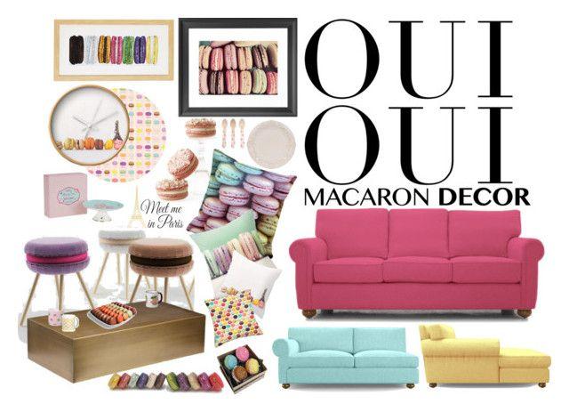 """Oui Oui: Macaron Decor"" by reem-hamed ❤ liked on Polyvore"
