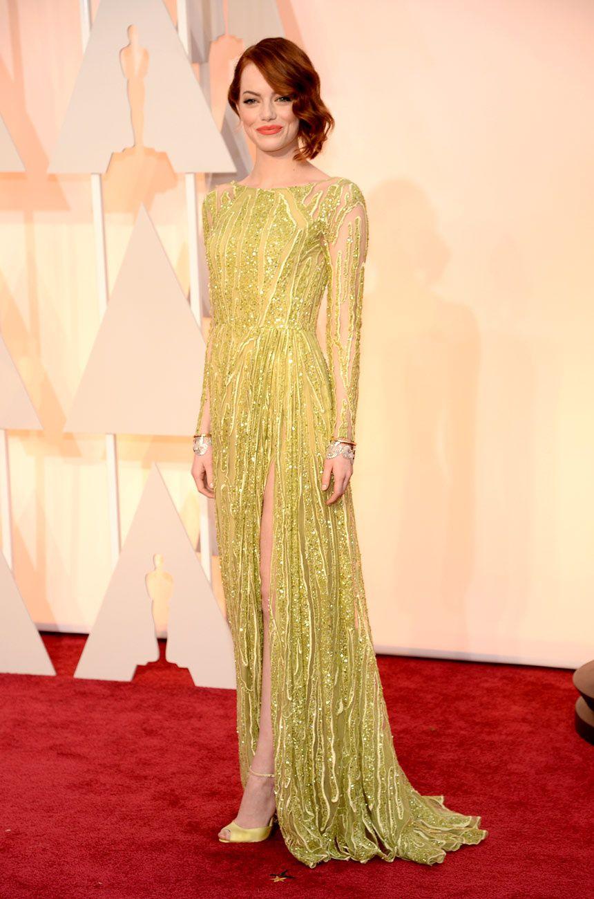 Emma Stone by Elie Saab. To me.. BEST DRESSED