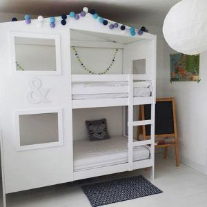 customiser un meuble ikea 20 bonnes id es pour la chambre d 39 enfant lit superpos superpose. Black Bedroom Furniture Sets. Home Design Ideas