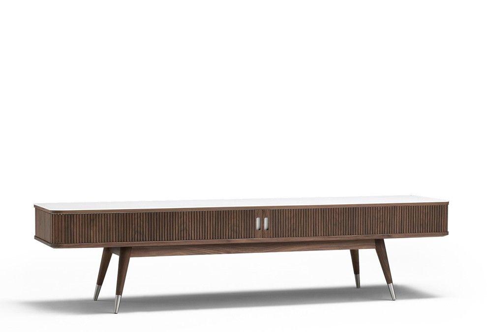 Meuble TV Point bois et Corian Nissen & Gehl : Naver Collection design Naver - Design Ikonik