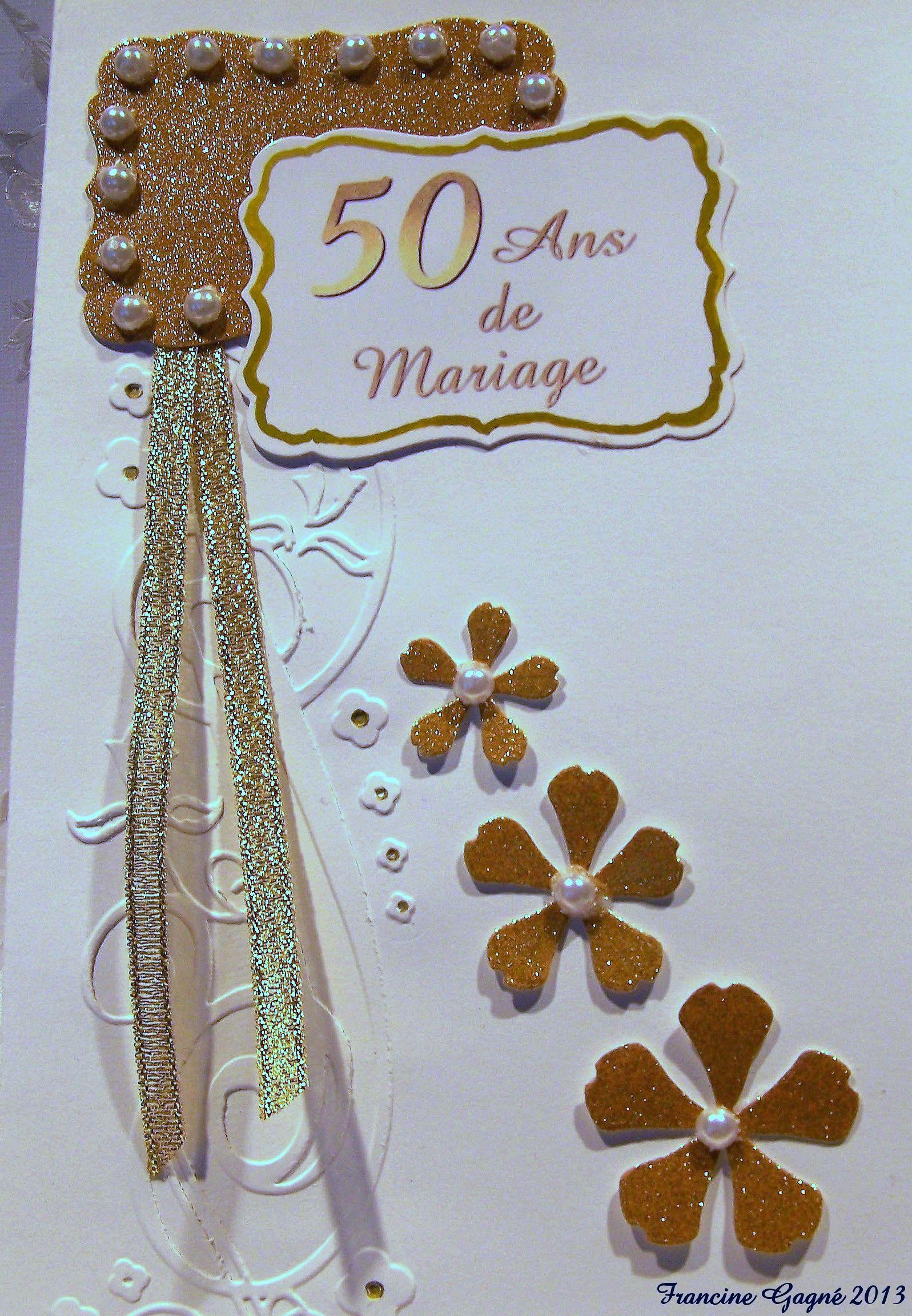 Pour le cinquanti me anniversaire de mariage de cousins for 50e anniversaire de mariage