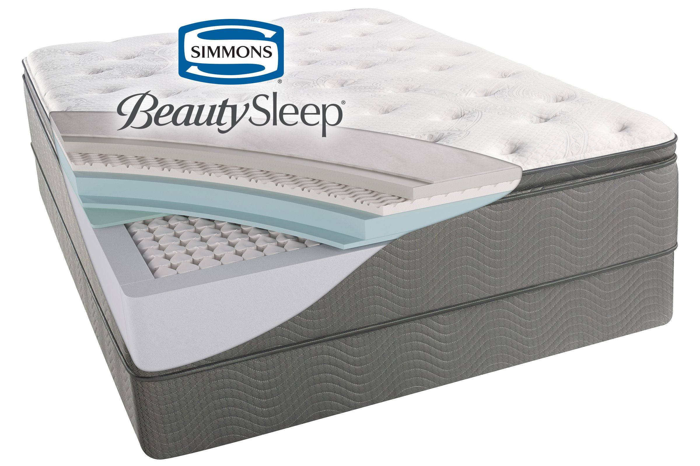 Simmons Beautysleep Sun Valley Plush Pillow Top King Mattress