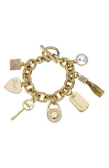 Adorable Michael Kors Toggle Bracelet Also Comes In Silver
