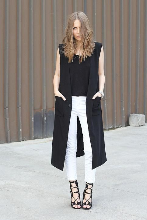 50 Cute New Ways to Wear Black and White  a8096c27af98