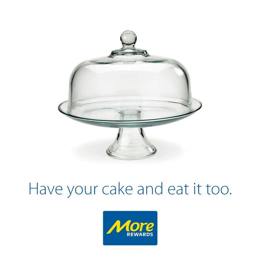 Sturdy, thick glass construction in retro 1950's style. Serve your baked goods and keep them fresh with the Anchor Presence cake set.  Learn more: https://www.morerewards.ca/catalog…/anchor-presence-cake-set