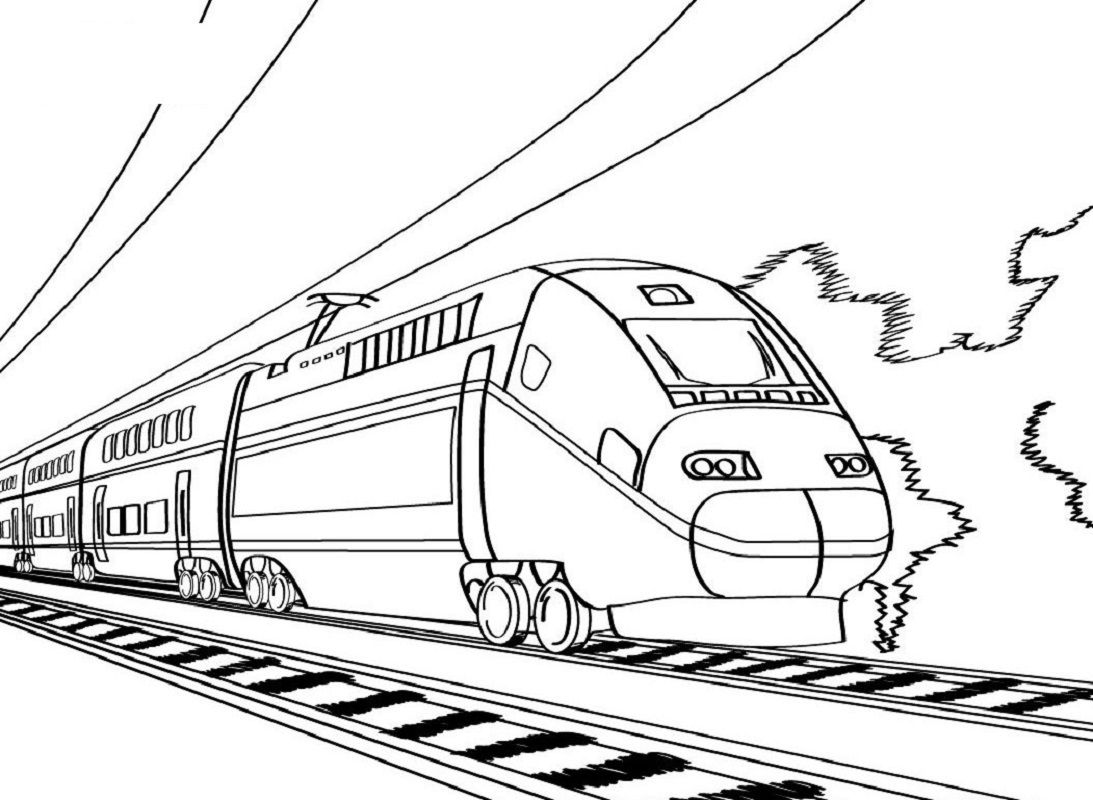 Bullet Train Coloring For Boys