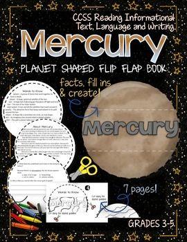 Solar System Planet Shaped Flip Book Mercury Danielle
