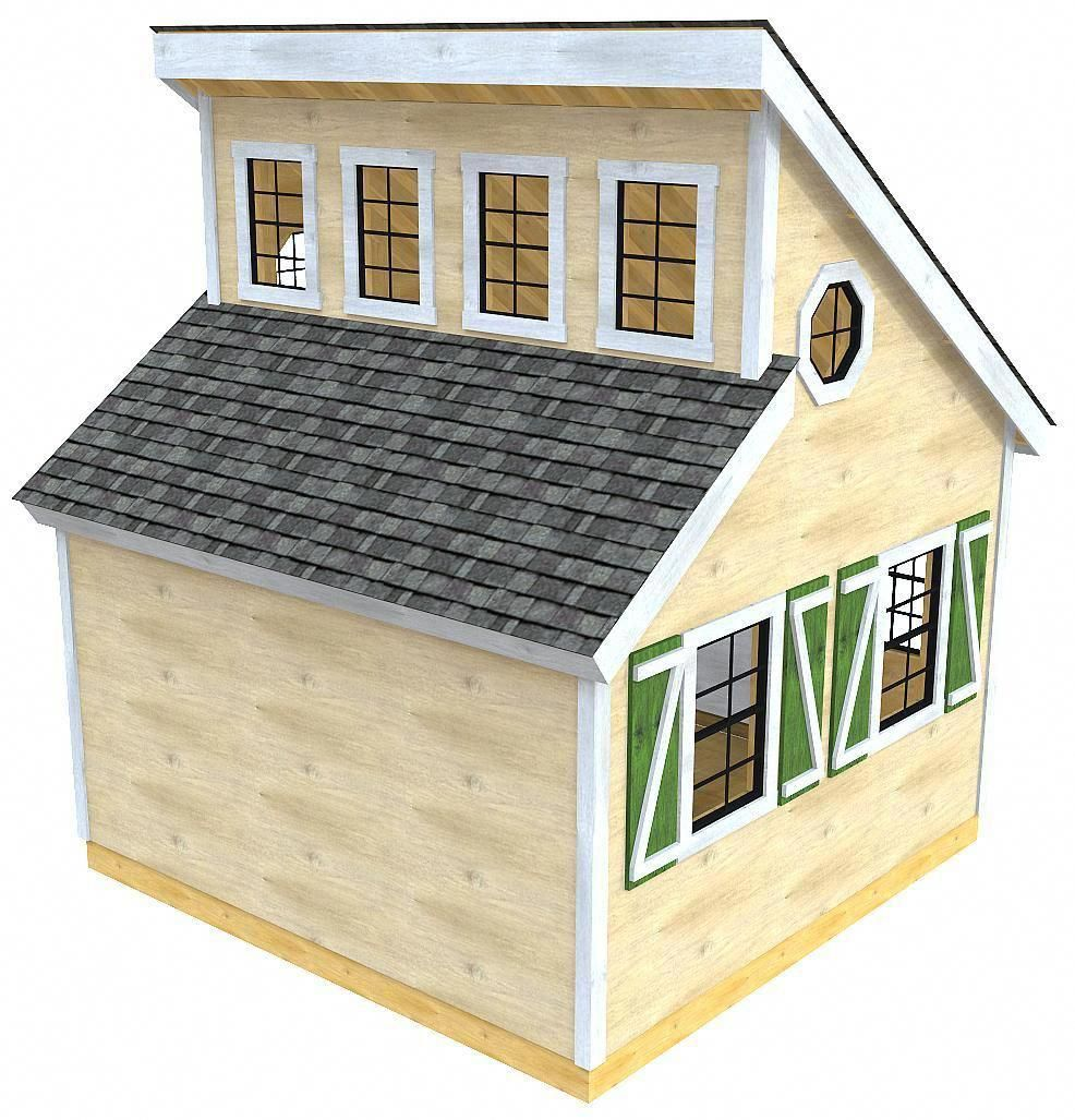 12x12 Irene Shed Plan Duel Shed Roof Clerestory Window Design Paul S Sheds Shedplans Shed Roof Design Shed Plan Building A Shed