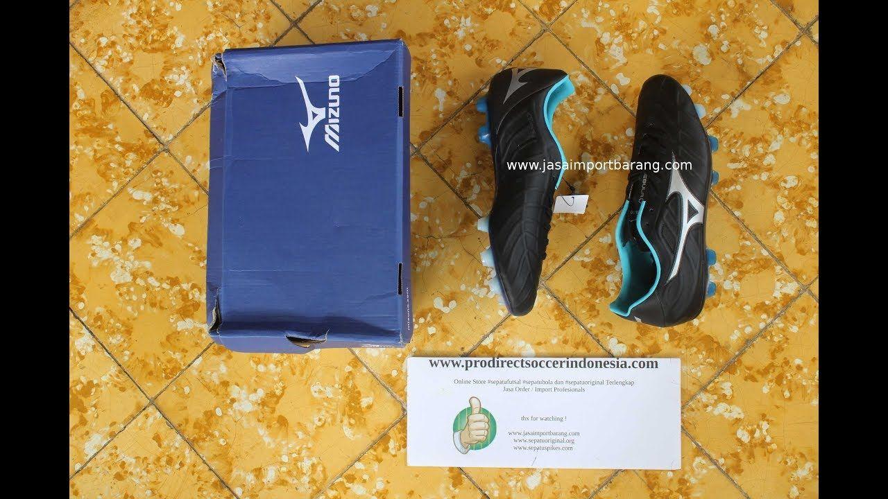 Sepatu Bola Mizuno Rebula V1 Black Grey Blue P1ga178103 Original