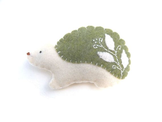Sage cottage chic hedgehog magnet number 33 by WillowandQuail