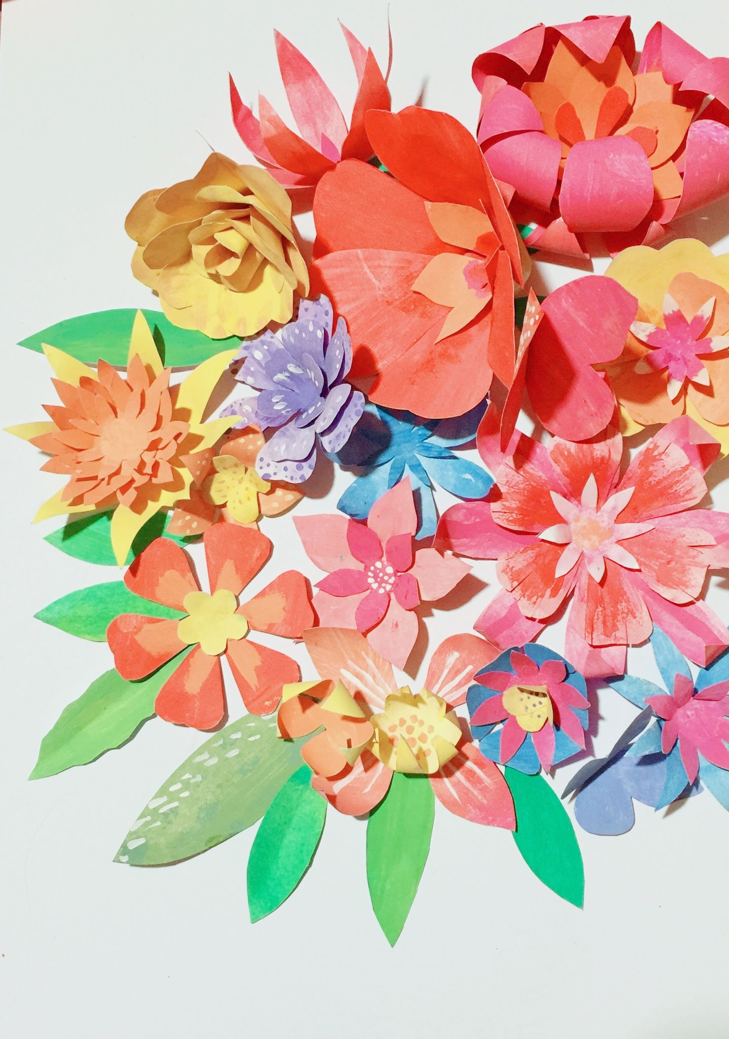 Paper Flowers Diy Tutorial And Templates At Happythought Paper
