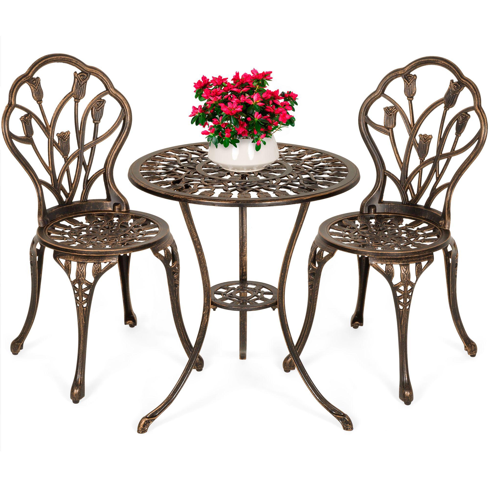 Best Choice Products 10 Piece Cast Aluminum Patio Bistro Furniture ...