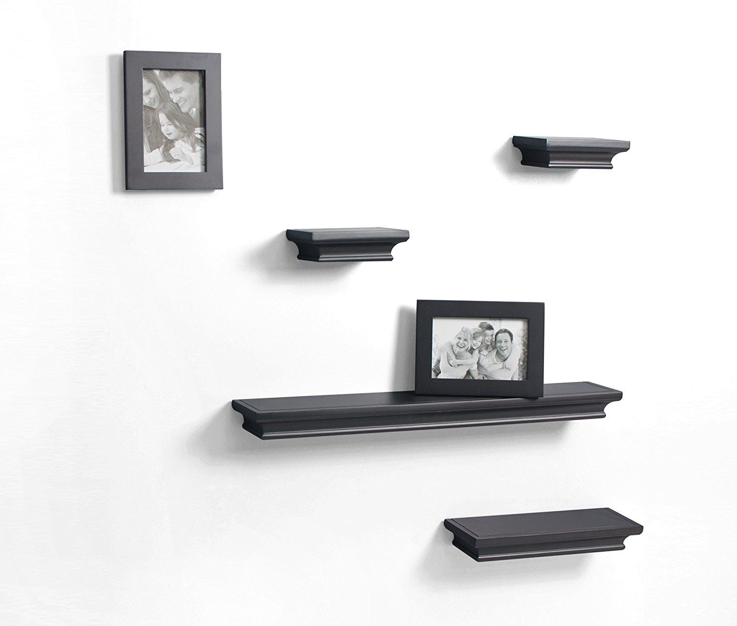 Decorative Wall Shelves And Photo Frame Set Of 6pcs In Black Finish You Can Get Additional Details At The Image L Wall Shelf Decor Floating Shelves Frame Set