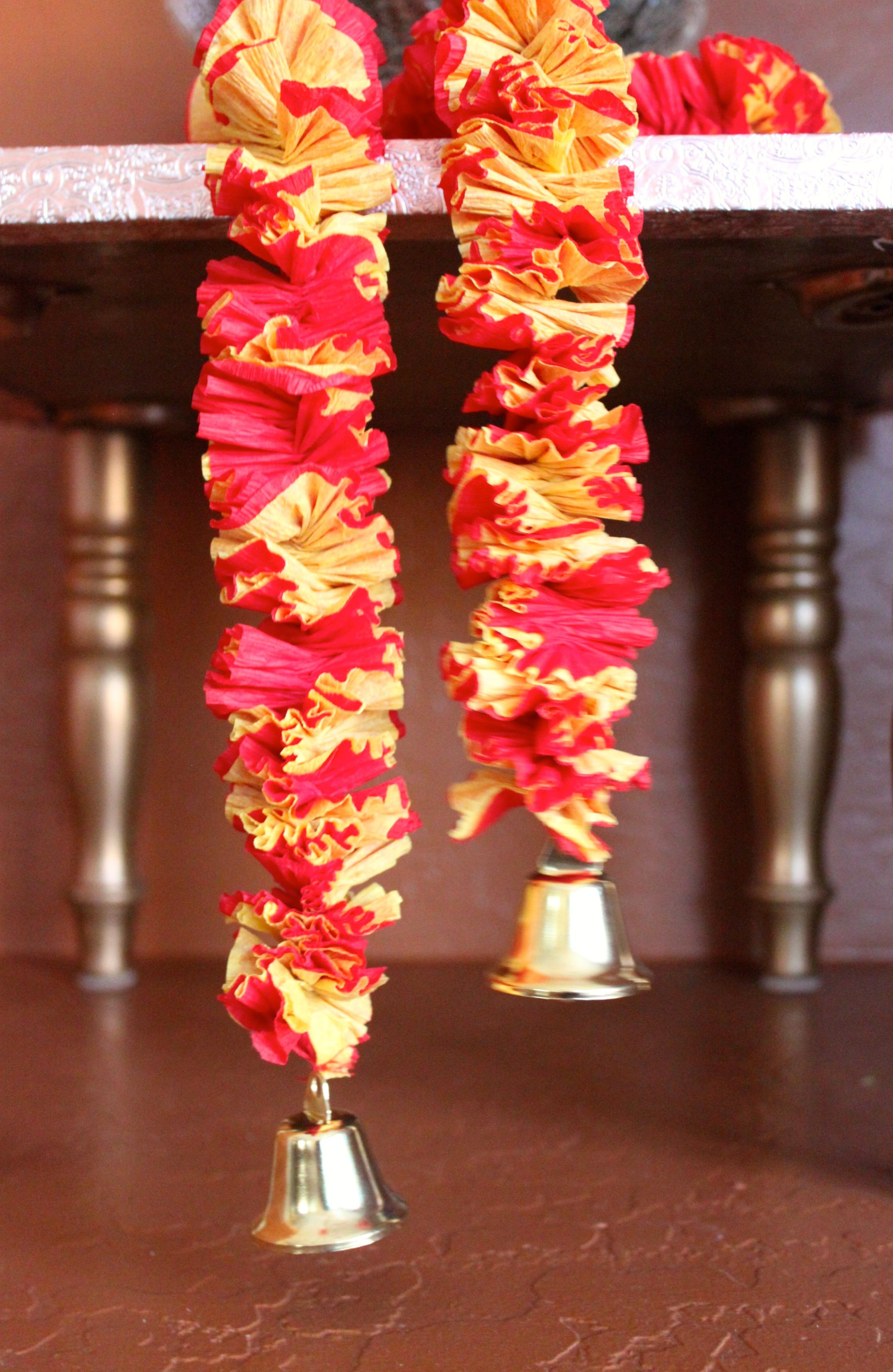 Diy Crepe Paper Garland Toran Diwali Ideas Crepe Paper Garland