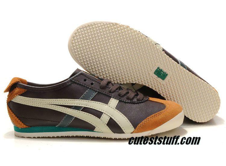 Asics Onitsuka Tiger Kanuchi Mens Brown Beige Orange Court Green Thl202 1209 Tiger Shoes Sneakers Men Fashion Beautiful Sneakers