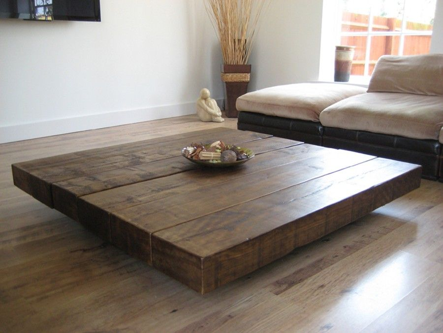 Brown Square Unique Wood Extra Large Coffee Table Diy Ideas