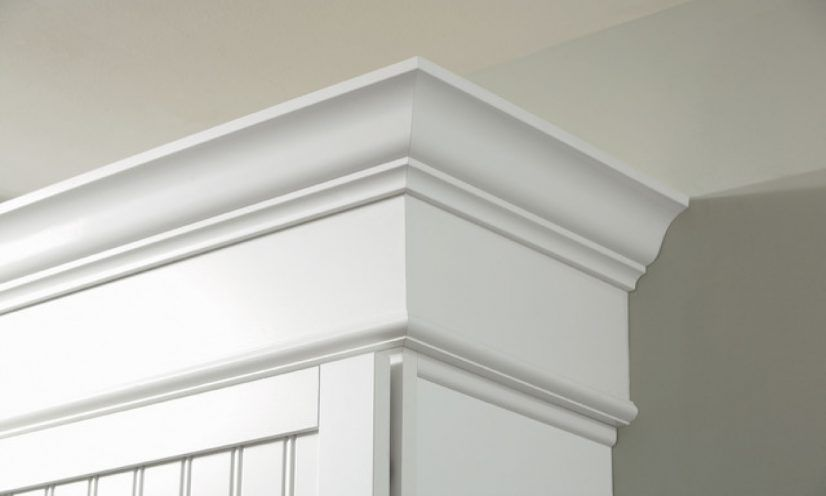 Cabinets crown moldings for kitchen stacked molding sizes ...