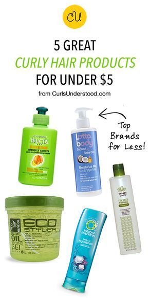 Best Curly Hair Styling Products 5 Great Curly Hair Products Under $5  Pinterest  Curly Natural