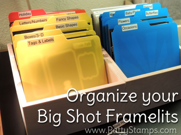 Organize Your Stampin UP Big Shot Framelits And Thinlits With