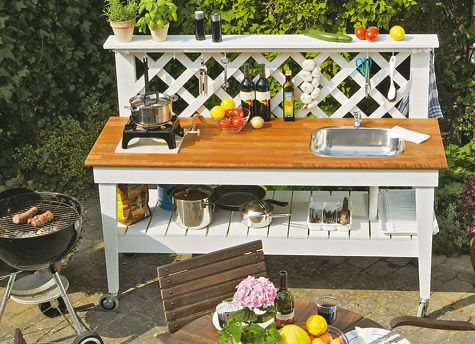 Mobile Gartenküche | Home | Outdoor living | garden kitchen | Garten ...