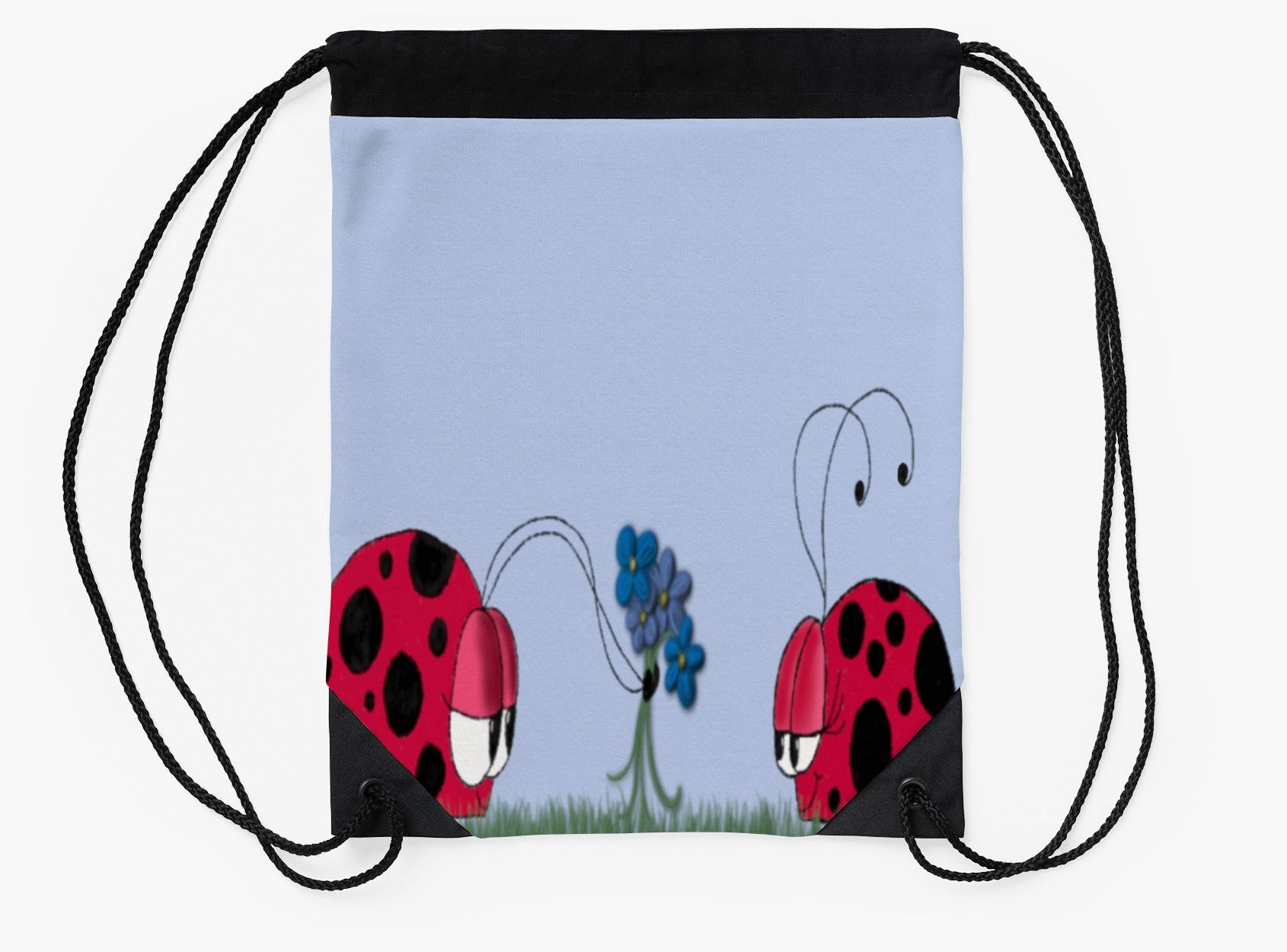 Flowers For My Love Drawstring Bag. By #OneArtsyMomma