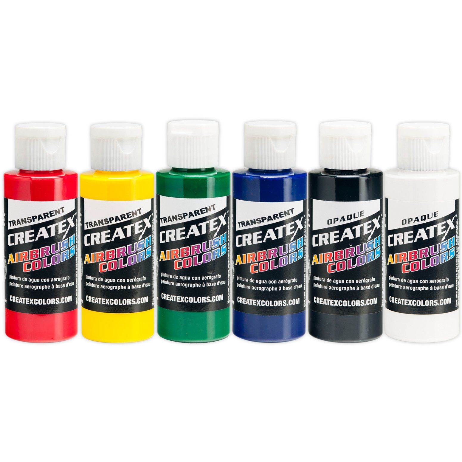 Pearl White 8 Oz Fast Deliver Createx Colors Paint For Airbrush