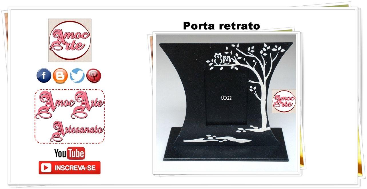 Porta Retrato preto e branco - mdf  http://amocarte.blogspot.com.br/