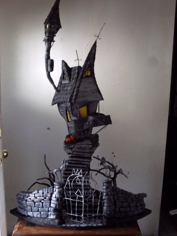 Nightmare Before Christmas Houses.A Nightmare Before Christmas Jacks Haunted By