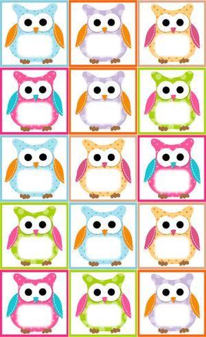 Bekijk de foto van jojo1411 met als titel Free Owl Label Templates - name labels templates free