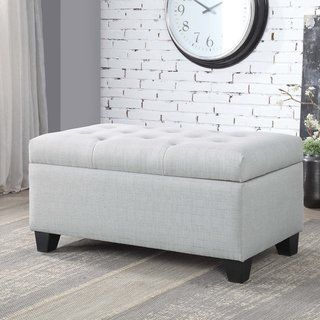 Carey Contemporary 36 Inch Button Tufted Storage Bench By Foa Beige Furniture Of America Furniture Of America Storage Bench Tufted Storage Ottoman