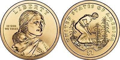 2012 Native American Sacagawea P/&D Dollars BU Uncirculated