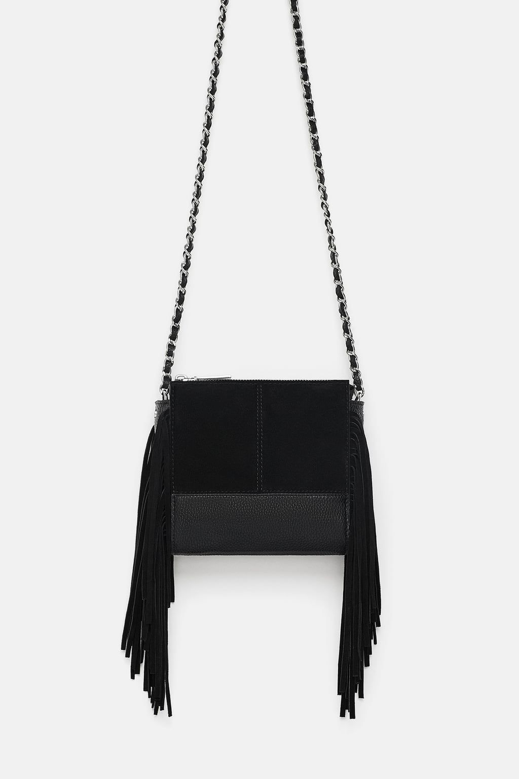 0c81ef702be4 Image 2 of LEATHER CROSSBODY BAG WITH FRINGING from Zara