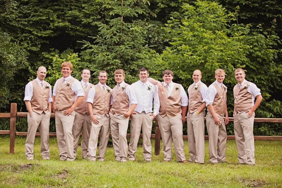Groomsmen Summer Country Wedding