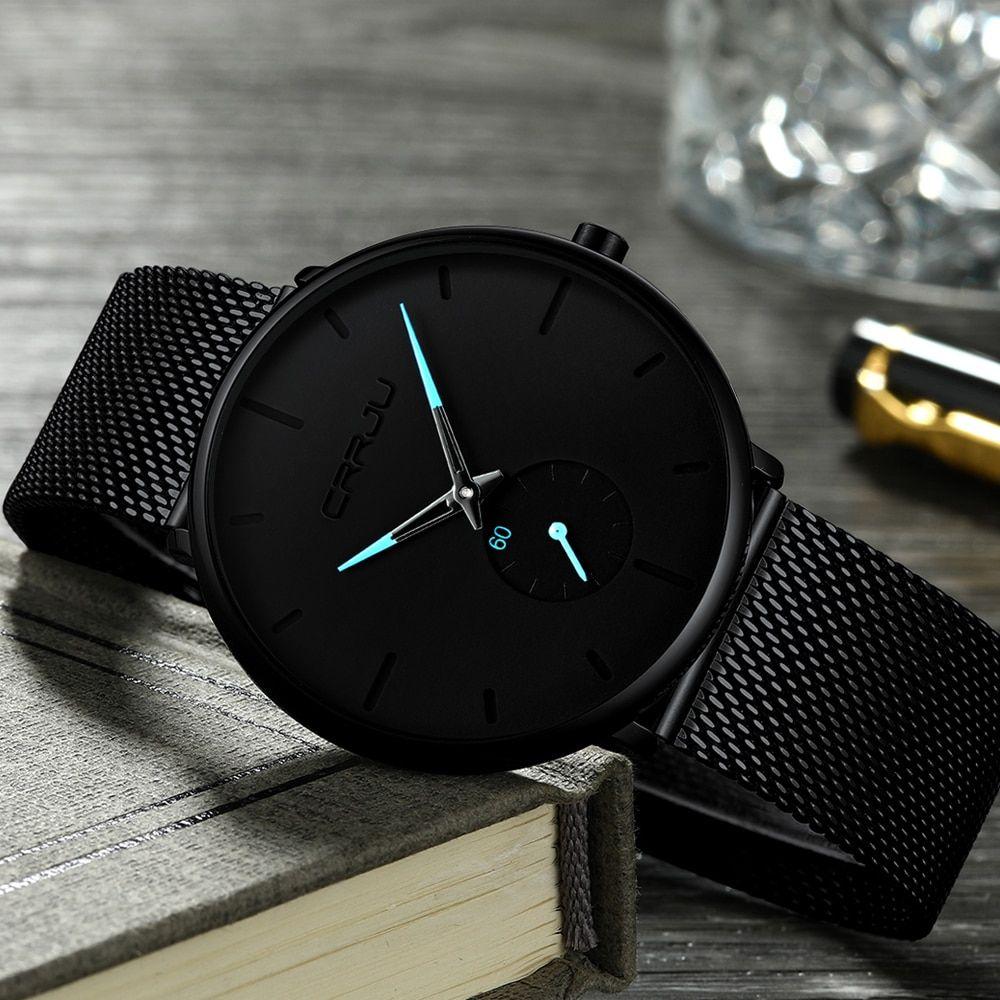Click Y Compralo Kompritas Com Reloj Deportivo De Moda Crrju Para Hombre Reloj De Cuarzo De Lujo De Marca Superior Reloj Deportivo Impermeable De Acero De Relojes De Lujo Relojes