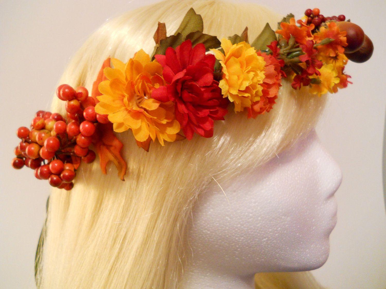 Best Wild Flowers Fall Wedding Flower Crown Wild Flowers