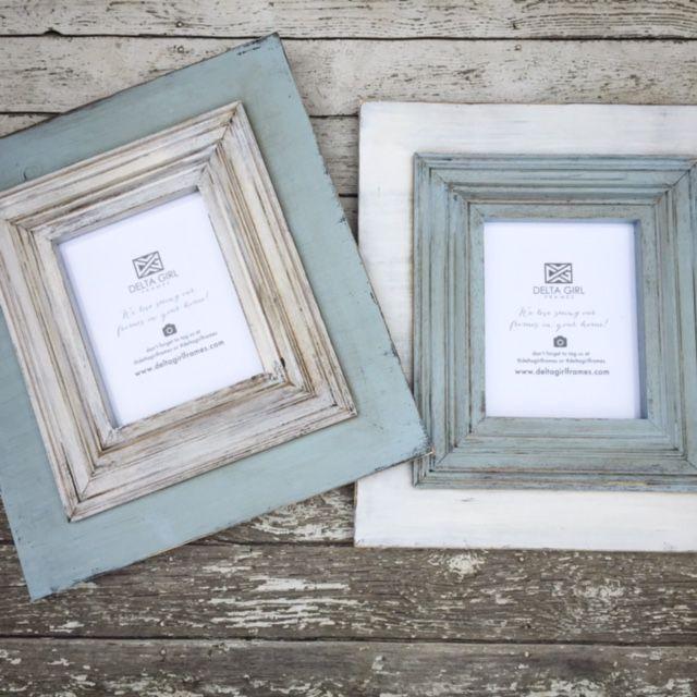 set of 2 8x10 rainwhite washed frames wwwdeltagirlframescom - Whitewashed Picture Frames