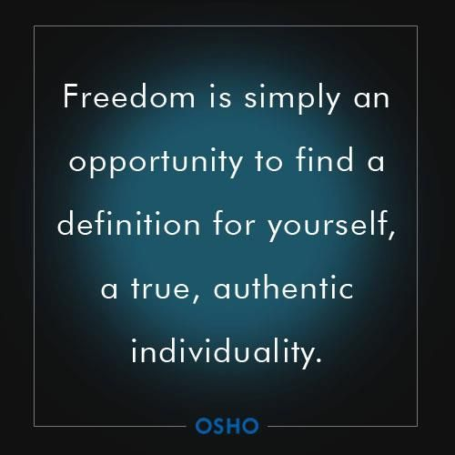 authentic freedom definition