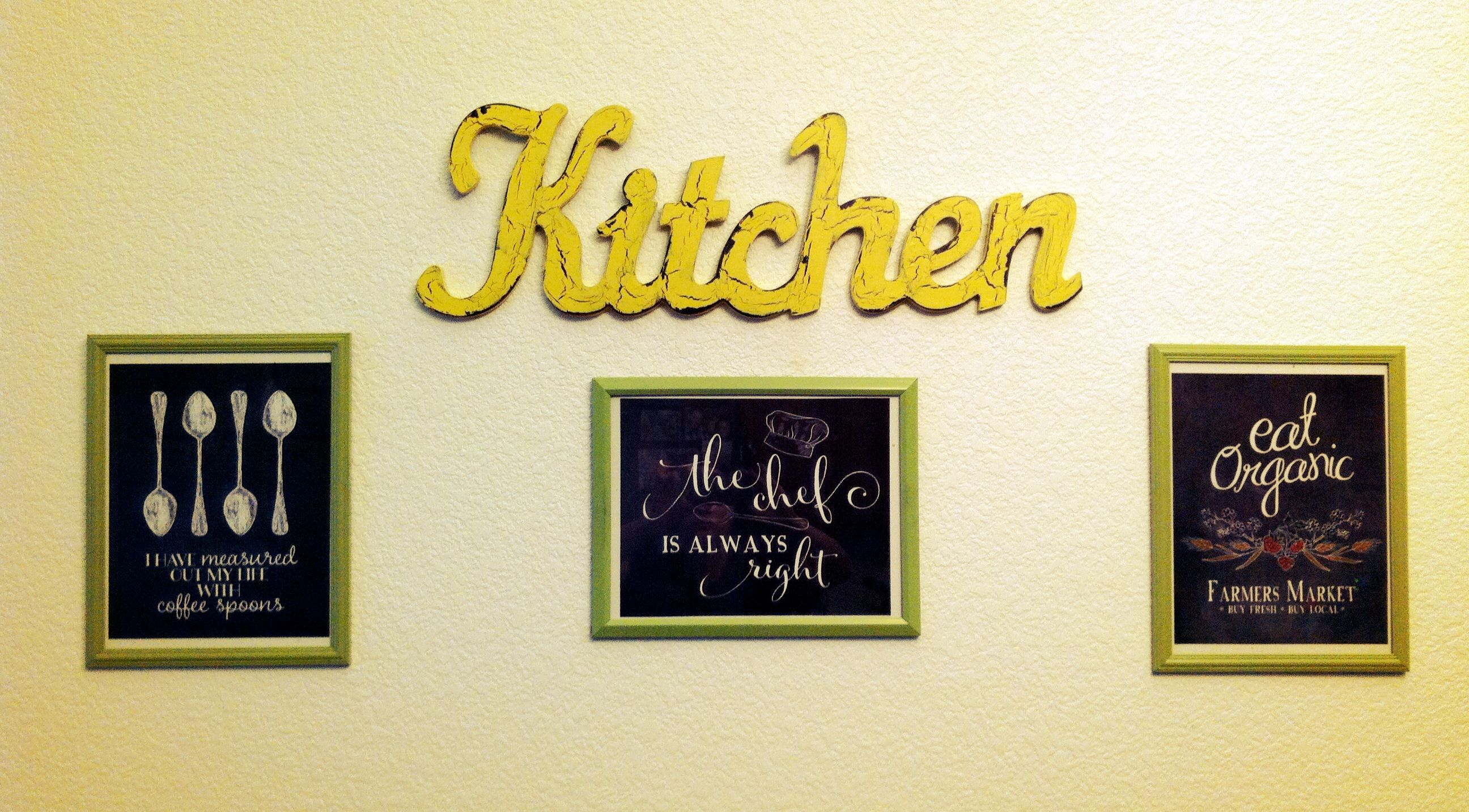 My new kitchen wall art... Bought the \