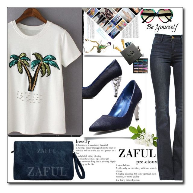 """""""www.zaful.com/?lkid=8105  no. 16 / II"""" by esma178 ❤ liked on Polyvore featuring Frame Denim, Urban Decay, polyvoreeditorial and zaful"""